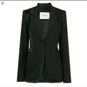 L.K. Bennett Black Melba Blazer Tuxedo Size 10